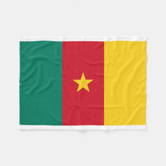 Cameroon National World Flag Fleece Blanket