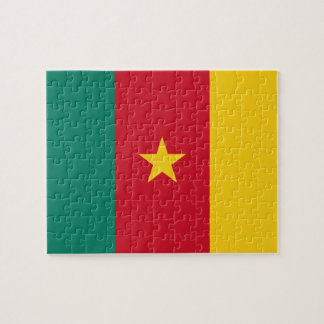Cameroon National World Flag Jigsaw Puzzle