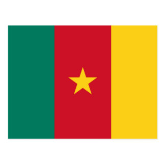 Cameroon National World Flag Postcard