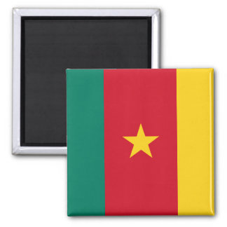 Cameroon National World Flag Square Magnet