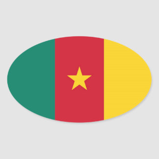 CAMEROON OVAL STICKER