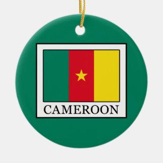 Cameroon Round Ceramic Ornament