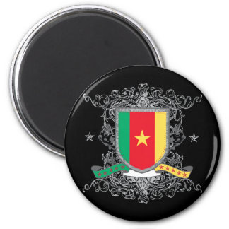 Cameroon Shield 2 Inch Round Magnet
