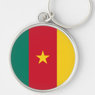 CAMEROON Silver-Colored ROUND KEYCHAIN