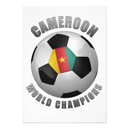 CAMEROON SOCCER CHAMPIONS CUSTOM ANNOUNCEMENTS