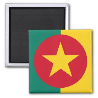 Cameroon Square Flag Design Square Magnet