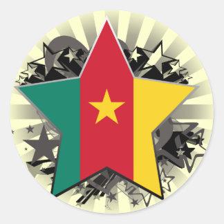 Cameroon Star Round Sticker