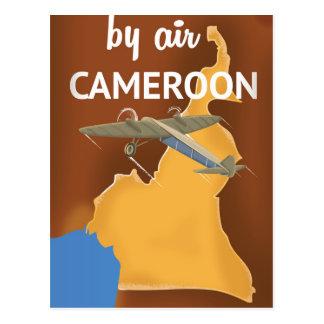 Cameroon Vintage Travel poster Postcard
