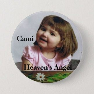 cami_bucket, Cami, Heaven's Angel 3 Inch Round Button