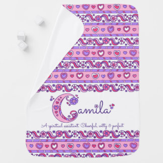Camila personalized name meaning pink baby blanket