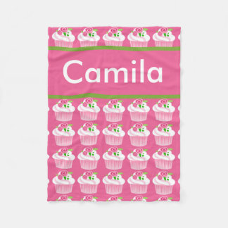 Camila's Personalized Cupcake Blanket