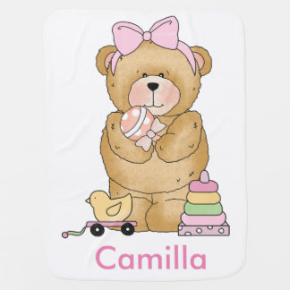 Camilla's Teddy Bear Personalized Gifts Baby Blanket