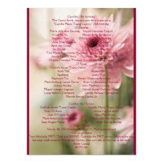 CAMILLE 18TH CARD