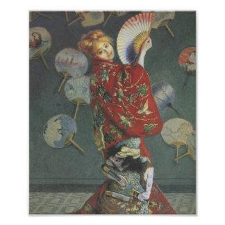 Camille avec le kimono japonais et fan photographie