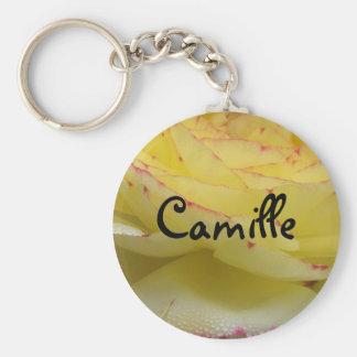 Camille Basic Round Button Keychain