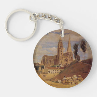 Camille Corot- Chartres Cathedral Keychain