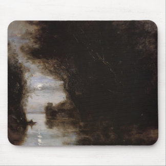Camille Corot- Moonlit Landscape Mousepads