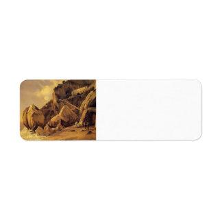 Camille Corot- Rocks in Amalfi Custom Return Address Label
