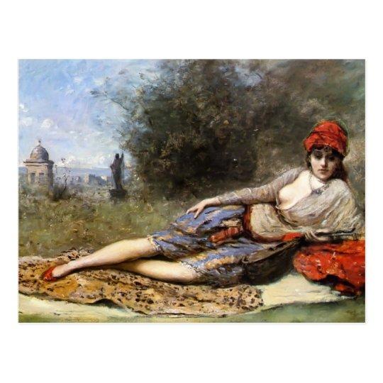 Camille Corot- Sicilian Odalisque Postcard