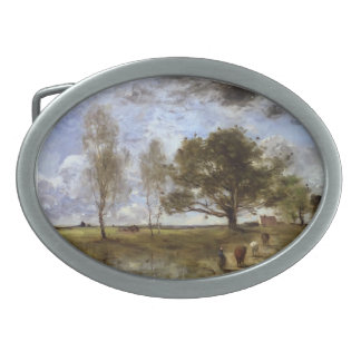 Camille Corot- The Cow Path Belt Buckles