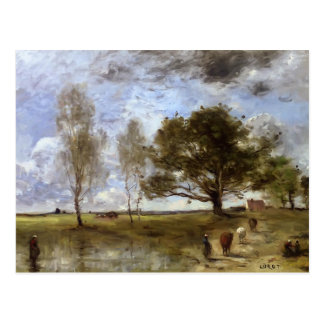 Camille Corot- The Cow Path Postcard