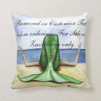 Camille Grimshaw Beach Pina Colada Mermaid Pillow