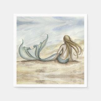 Camille Grimshaw Seaside Mermaid Napkins Paper Napkins