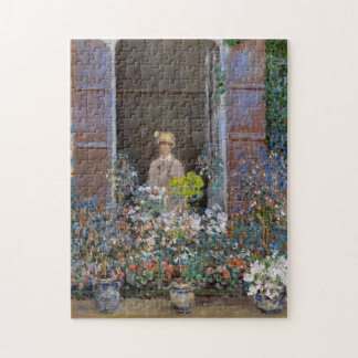 Camille Monet at Window Monet Fine Art Jigsaw Puzzle