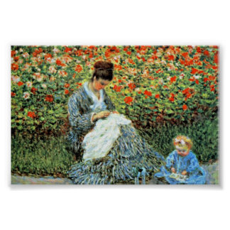 Camille Monet & Child Monet Mother's Day Poster