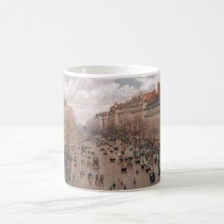 Camille Pissaro - Boulevard Monmartre Paris 1897 Coffee Mugs