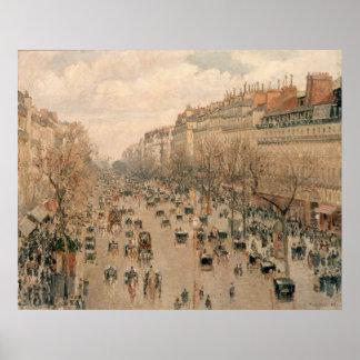 Camille Pissaro - Boulevard Monmartre Paris 1897 Poster