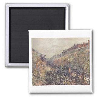 Camille Pissarro 1897 Montmarte Mardi Gras Sunset Refrigerator Magnet