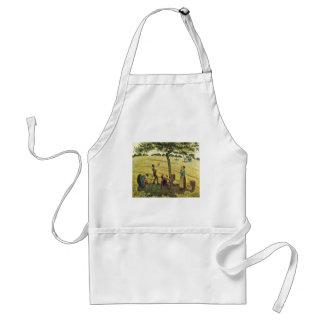 Camille Pissarro - Apple Harvest Eragny 1888 Oil Adult Apron