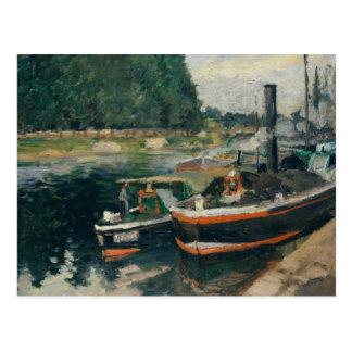Camille Pissarro - Barges at Pontoise Postcard