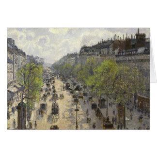 Camille Pissarro - Boulevard Montmartre, Spring Card