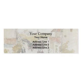 Camille Pissarro- Feast Day in Knokke Pack Of Skinny Business Cards