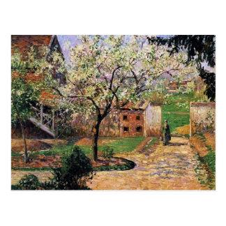 Camille Pissarro- Flowering Plum Tree, Eragny Postcard
