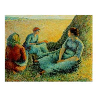 Camille Pissarro- Haymakers Resting Postcard