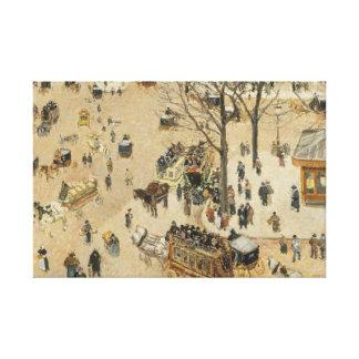 Camille Pissarro - La Place due Theatre Francais Gallery Wrapped Canvas
