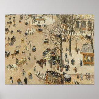 Camille Pissarro - La Place due Theatre Francais Poster