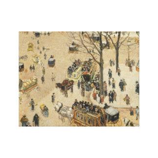 Camille Pissarro - La Place due Theatre Francais Stretched Canvas Prints