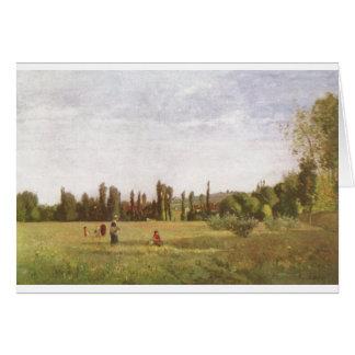 Camille Pissarro -  La Varenne-de-St.-Hilaire 1863 Card