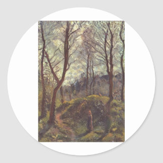 Camille Pissarro - Landscape Large Trees 1875 Oil Stickers