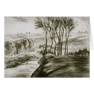 Camille Pissarro - Landscape Near Osny (State II) Card