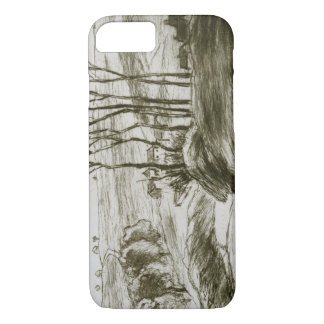 Camille Pissarro - Landscape Near Osny (State II) iPhone 7 Case