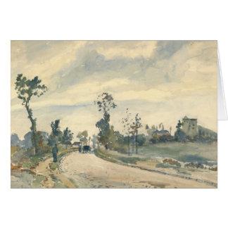 Camille Pissarro - Louveciennes Card