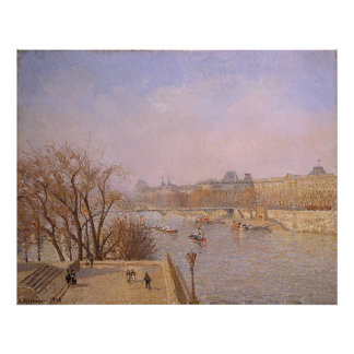 Camille Pissarro - Louvre Morning 1901 oil canvas Posters