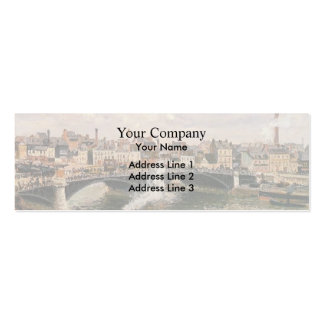 Camille Pissarro- Morning, Overcast Day, Rouen Pack Of Skinny Business Cards