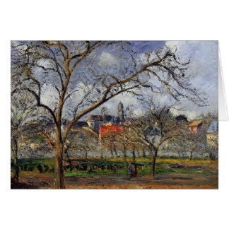 Camille Pissarro- On Orchard in Pontoise in Winter Card