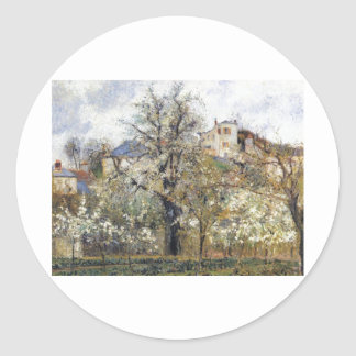Camille Pissarro - Orchard w Flowering Trees 1877 Sticker